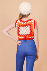 Vintage 1970's Dazed and Confused Crochet Top