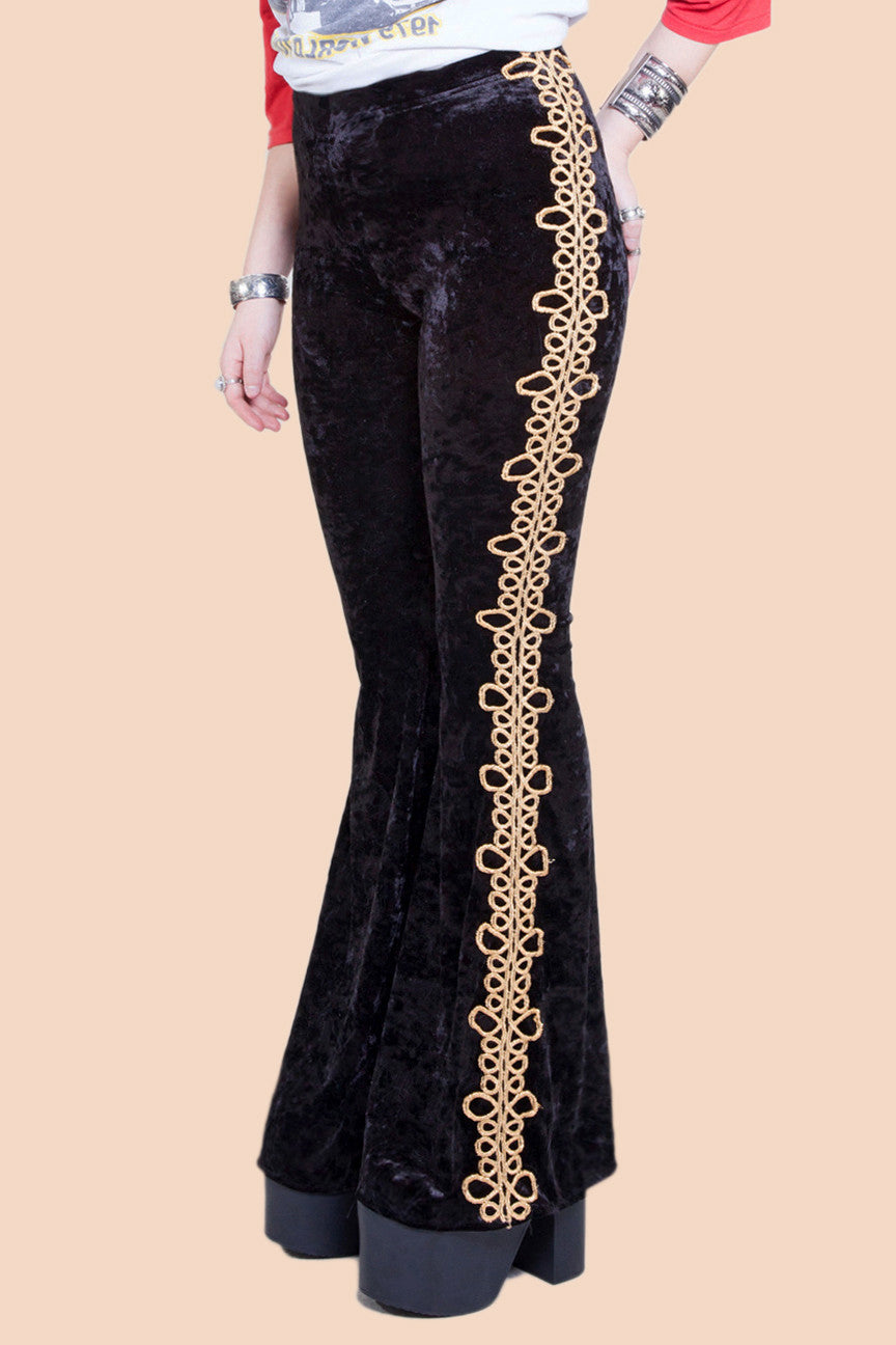 Gold Matador Black Velvet Bells