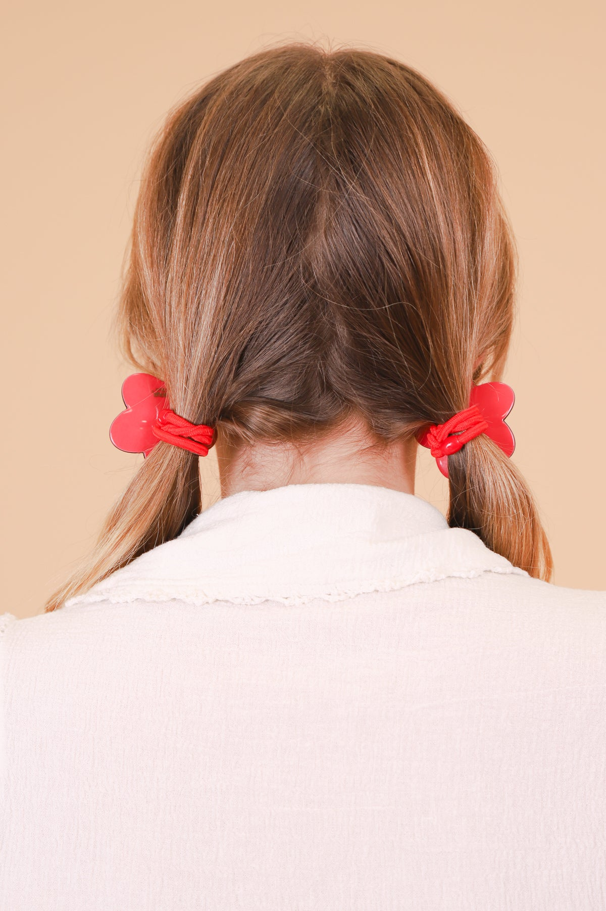 Flower Ponytail Tie in Red