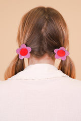 Flower Ponytail Tie in Purple