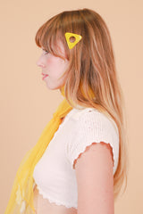 Triangle Hair Clip in Sunshine