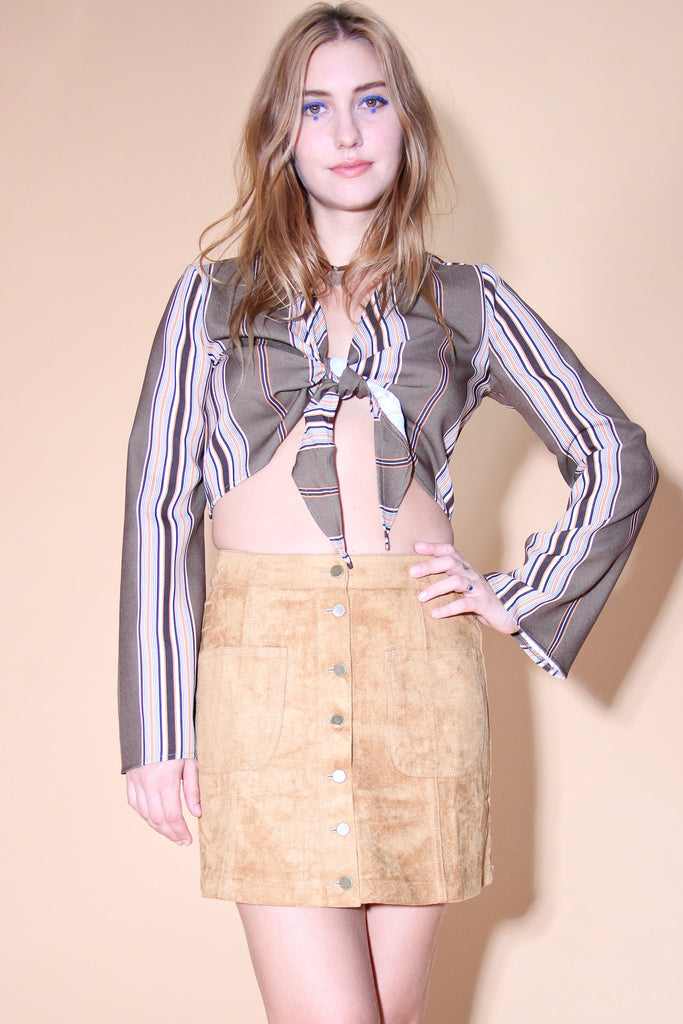 Sweet Jane Vegan Suede Skirt