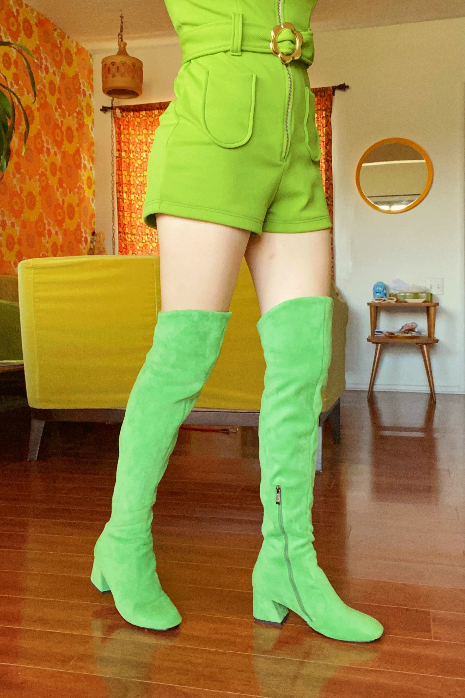 Jane Boot in Green Apple