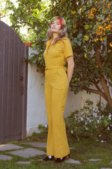 The California Shake Jumpsuit in Mustard