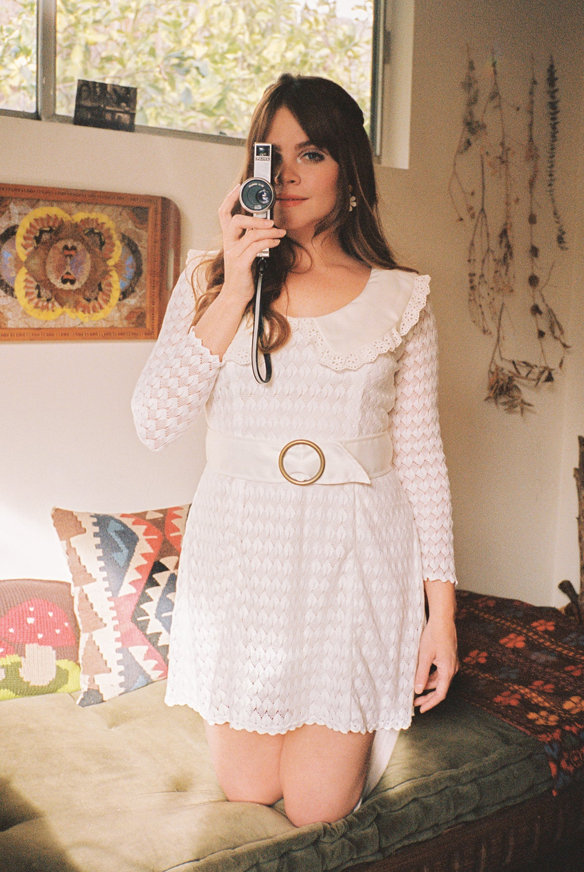 Elenore Lace Mini-Dress