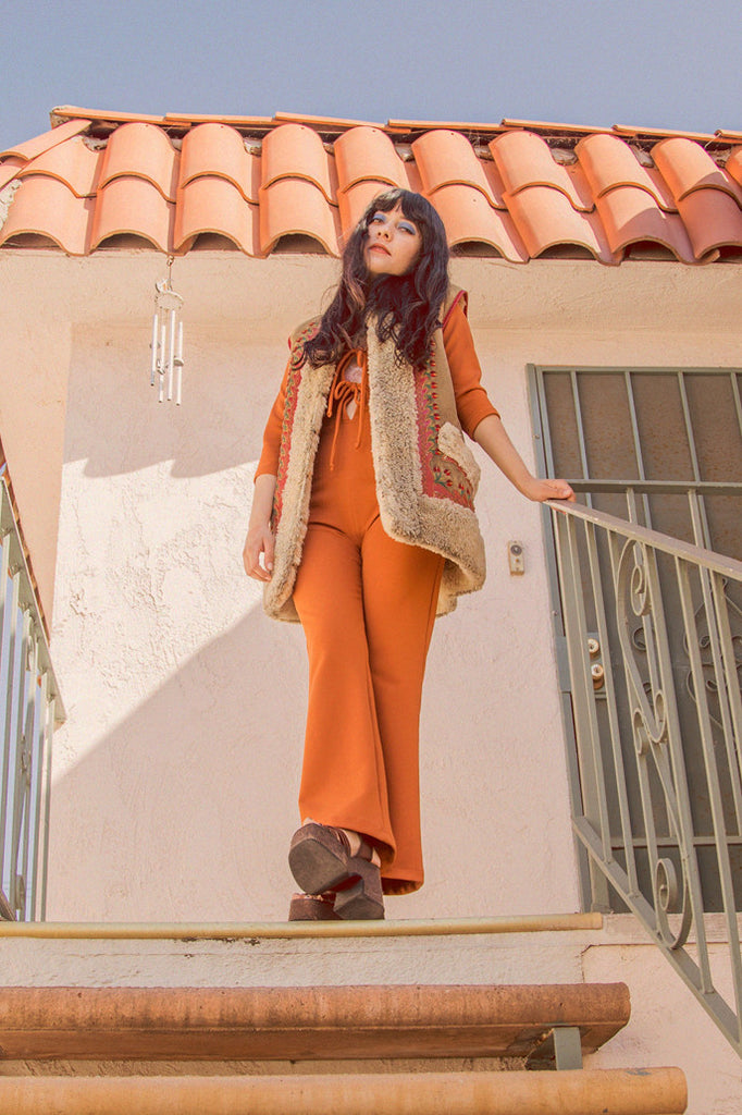 Sweet Jane Jumpsuit in Peach