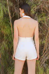 Cecilia Romper in Cream