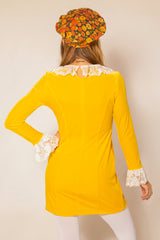 Lady Godiva Mini-Dress in Yellow