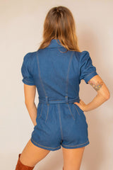 Fifi Romper in Denim