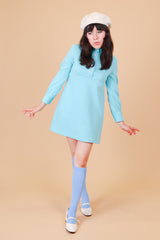 Vintage 1960's Robin's Egg Mini-Dress