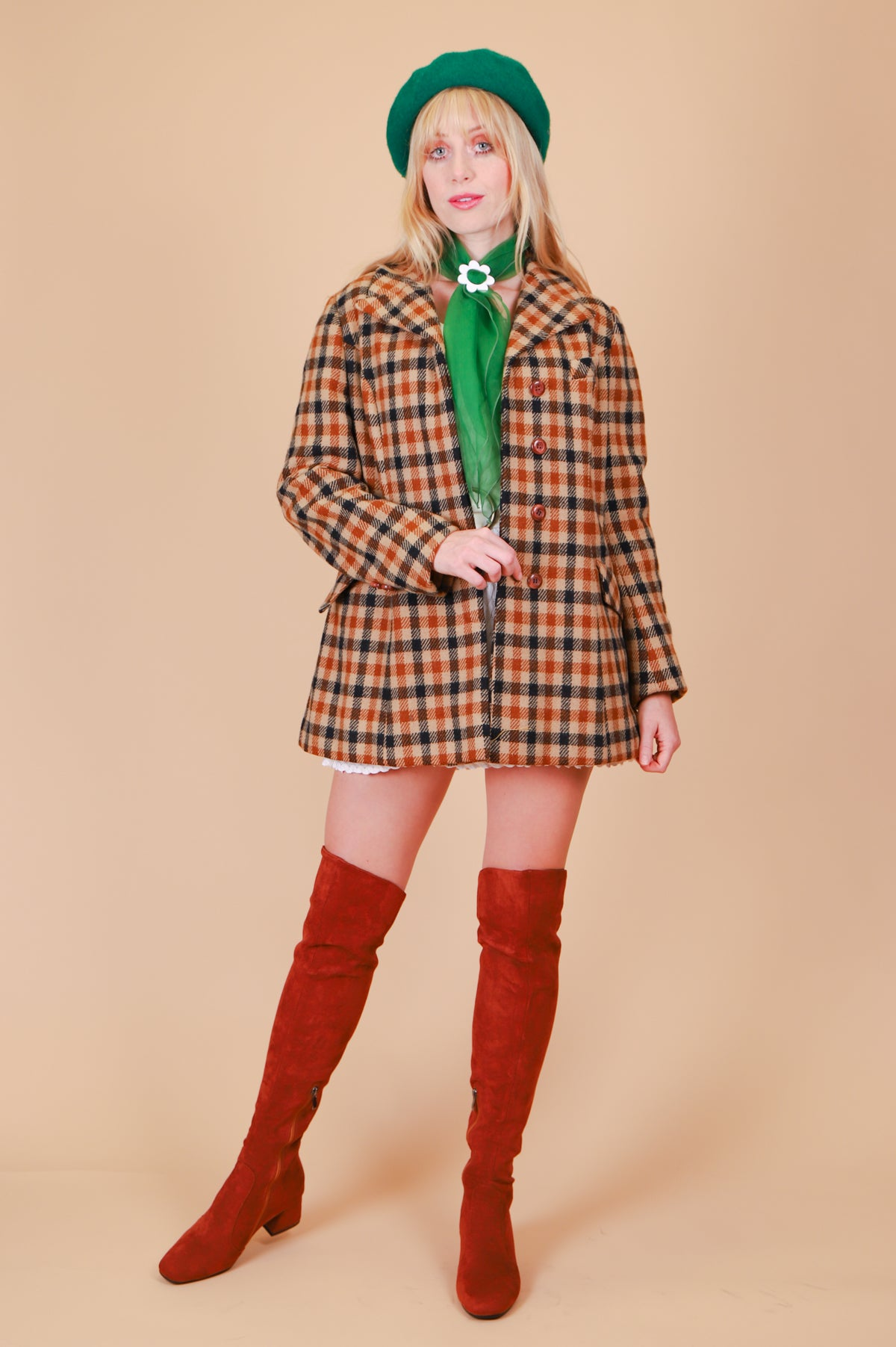Vintage 1970's Georgy Girl Plaid Jacket
