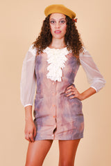 Vintage 1970's Petals on a Cloudy Day Mini-Dress