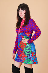 Vintage 1970's Take the Trip Mini-Dress