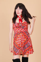 Vintage 1970's Patchwork Daze Mini-Dress