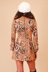 Vintage 1970's Harvest Moon Paisley Mini-Dress