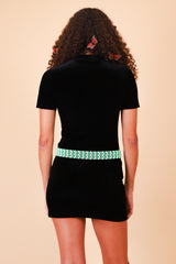 Vintage 1990's Paint It Black Velvet Mini-Dress