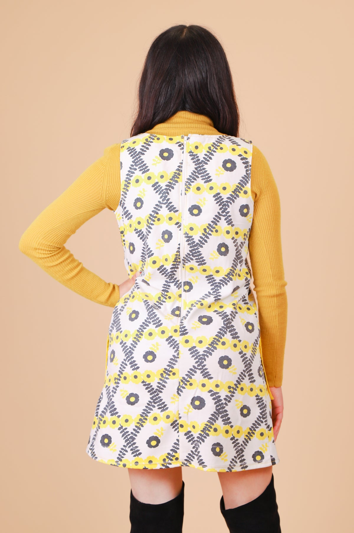 Vintage 1970's Some Sunny Day Mini-Dress