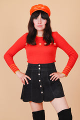 Vintage 1970's Daisy Chain Sweater