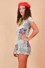 Vintage 1970's Summer Breeze Floral Mini-Dress