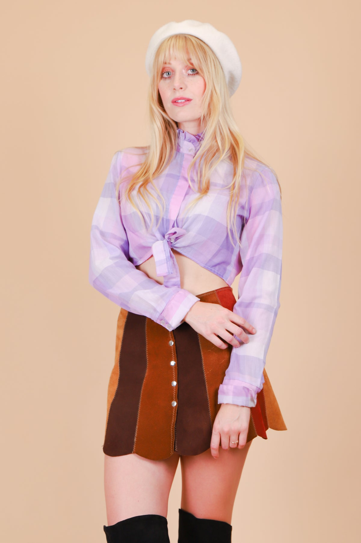 Vintage 1970's Lavender Fields Top
