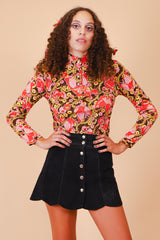 Vintage 1960's See Emily Play Psychedelic Top