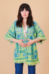 Vintage 1970's Good Vibrations Floral Jacket