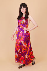 Vintage 1970's Purple Haze Maxi-Dress