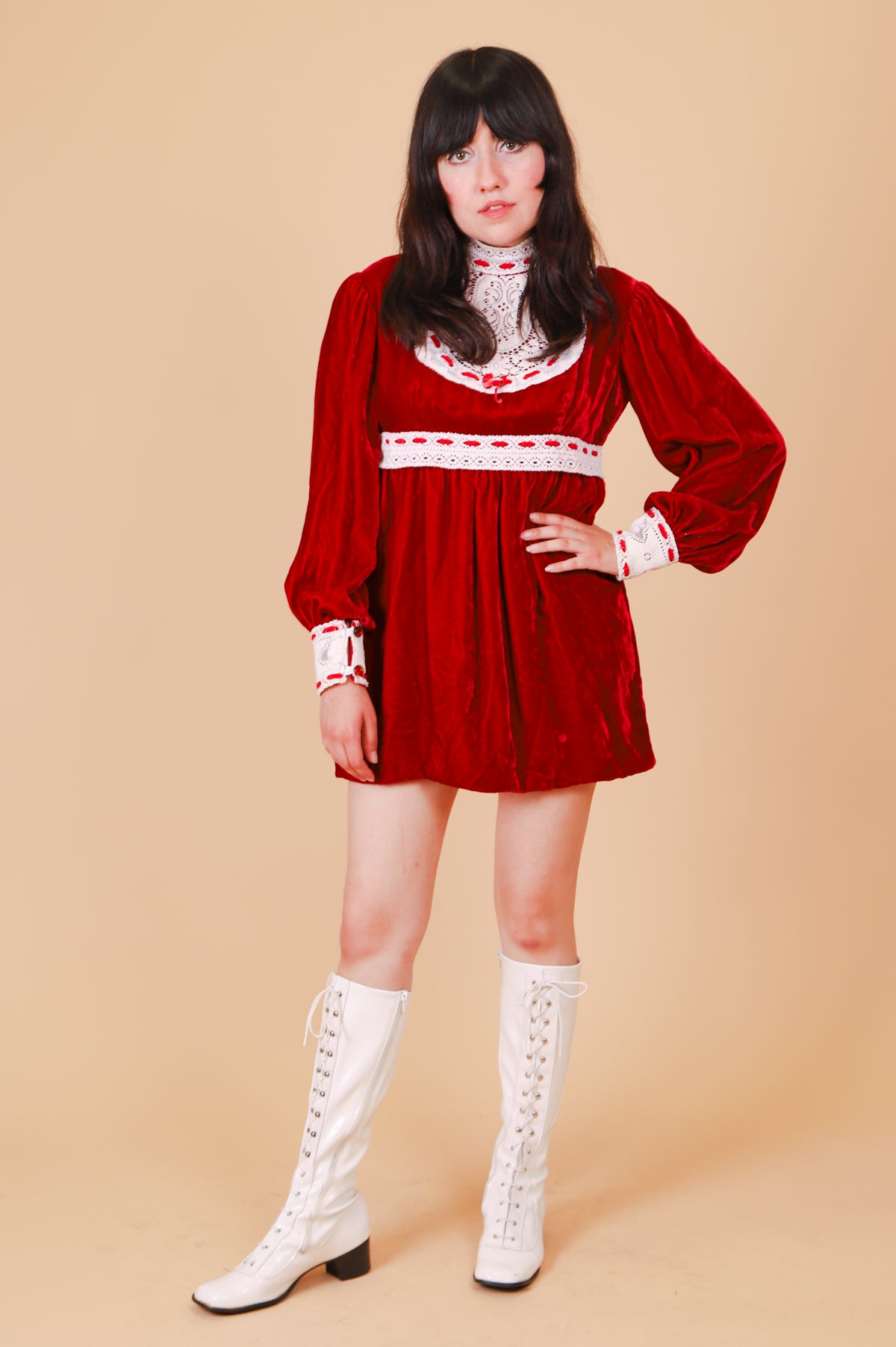 Vintage 1970's Scarlet Rose Mini-Dress