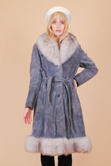 Vintage 1970's Fogbound Suede Fur Coat