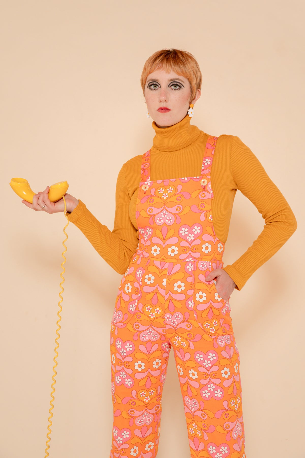 Jane Overalls in Clementine Daisy