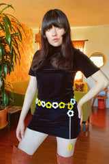 Daisy Chain Belt in Sunshine & White