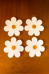 Daisy Coasters in White