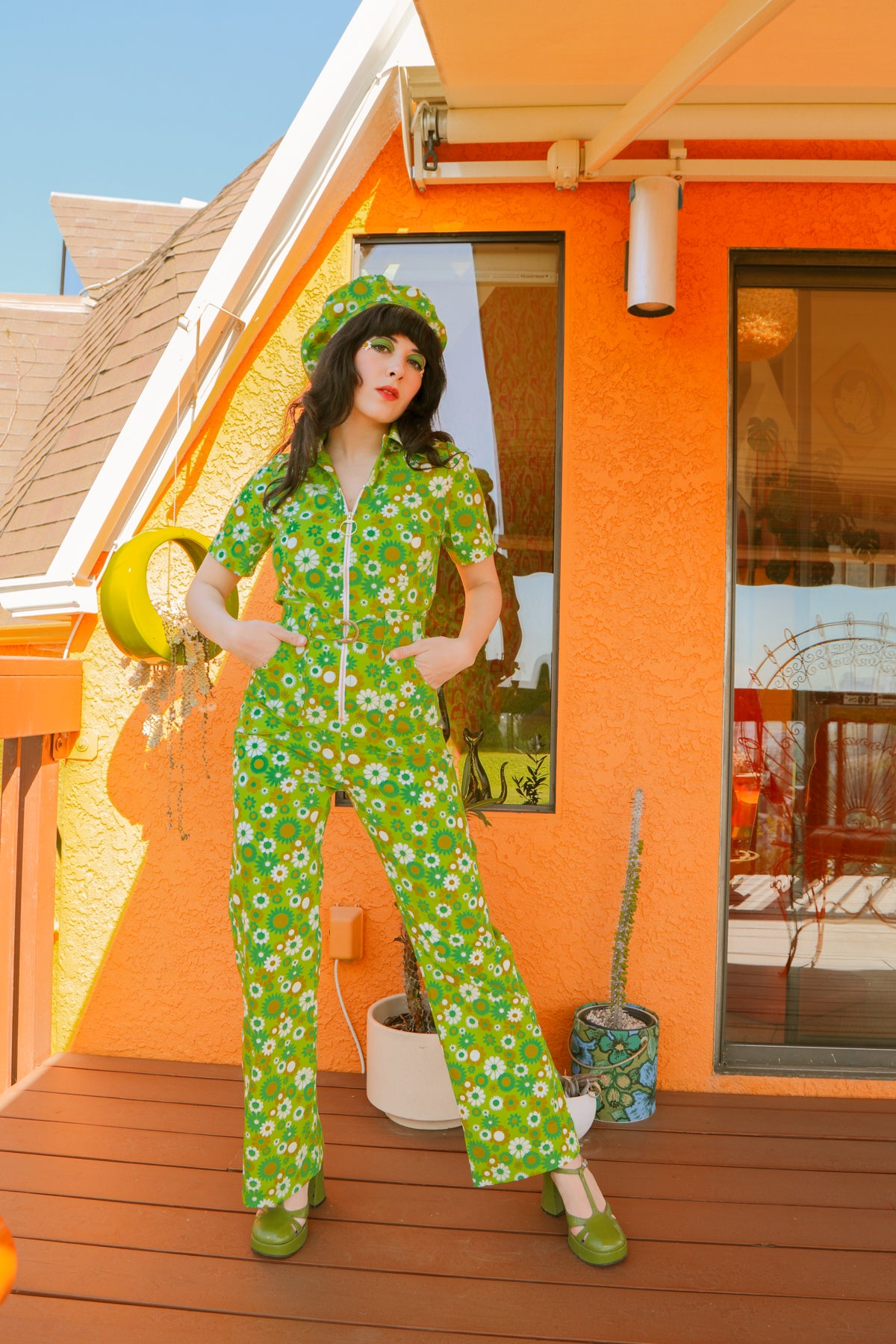 Green Daisy Jumpsuit