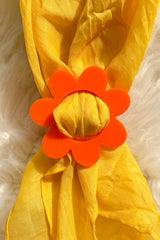 Daisy Scarf Slide in Orange