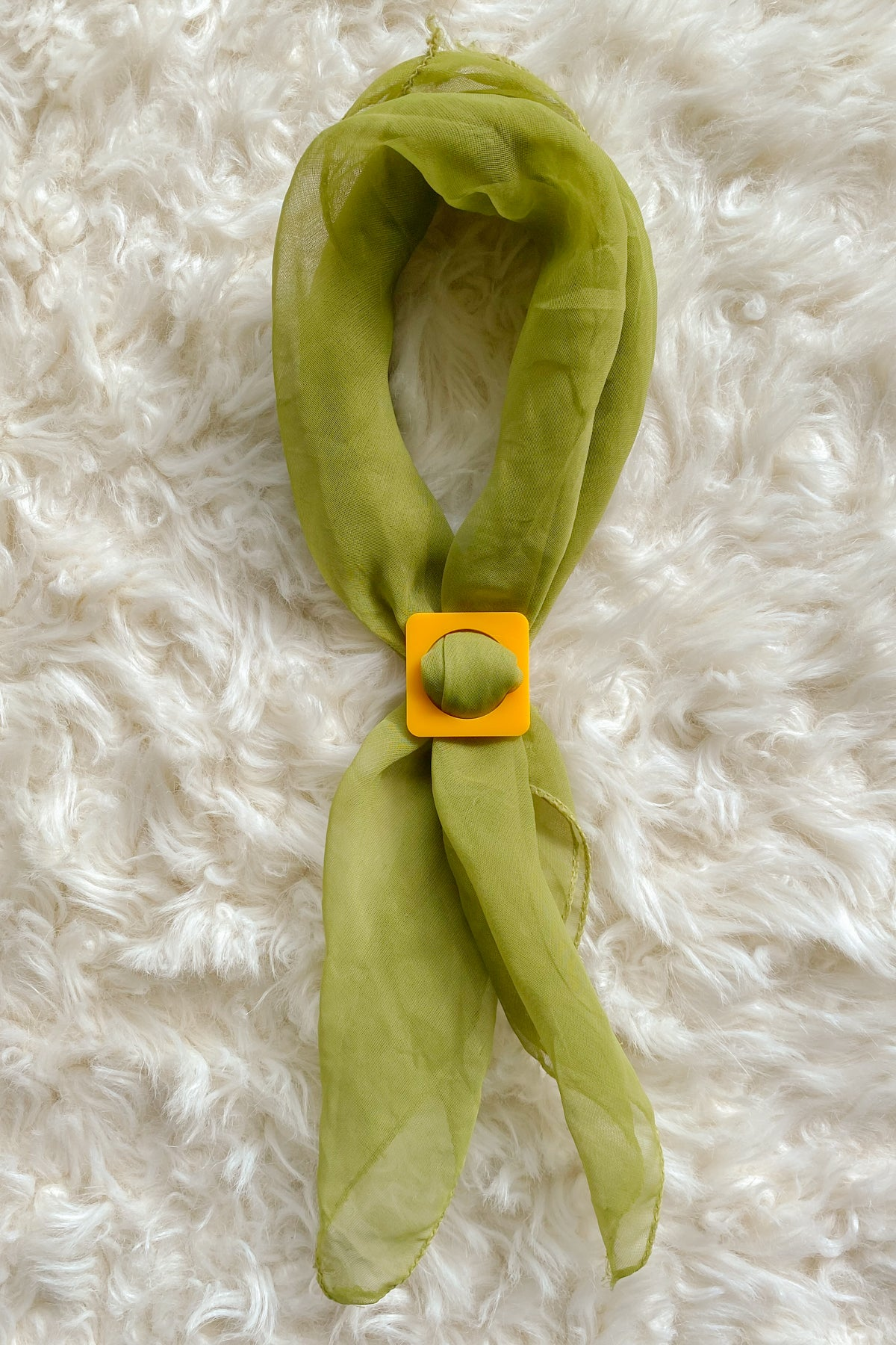 Square Scarf Slide in Yellow