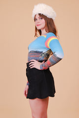 Vintage 1970's Somewhere Over The Rainbow Top