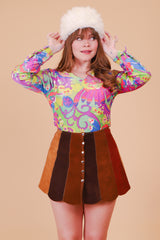 Vintage 1960's Shelley In Wonderland Top