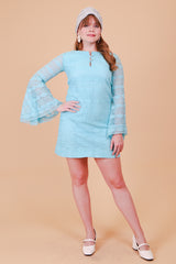 Vintage 1970's Dancing Queen Blue Mini-Dress