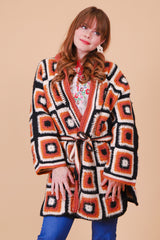 Vintage 1970's Homeward Bound Crochet Jacket