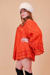 Vintage 1970's Tangerine Daze Mini-Dress