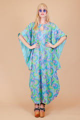 Vintage 1970's Psychedelic Cloud Nine Maxi-Dress
