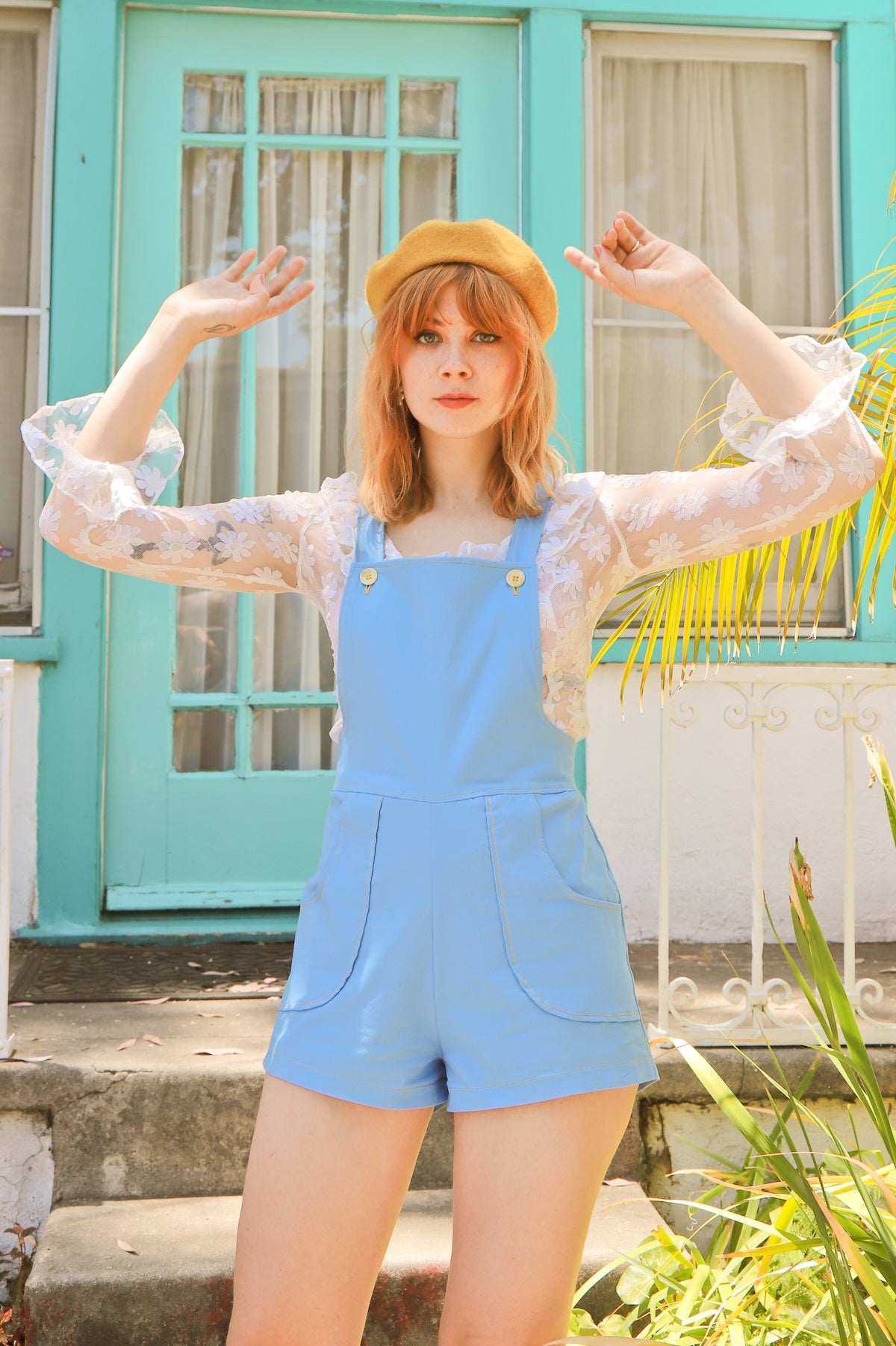 Shelley Shorterall in Baby Blue