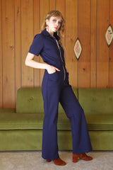 Magic Mushroom Jumpsuit in Navy