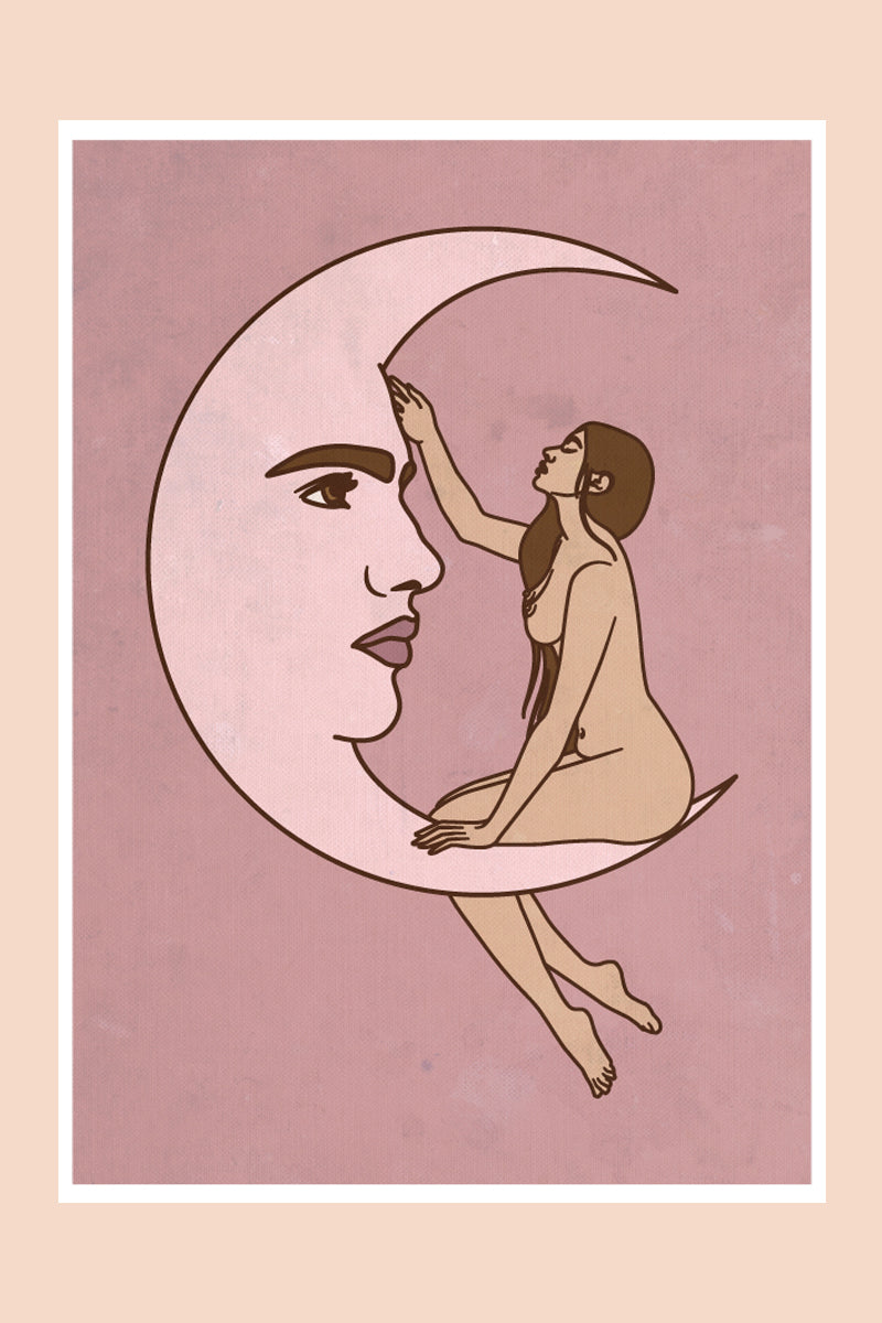 Moon Love in Rose Print