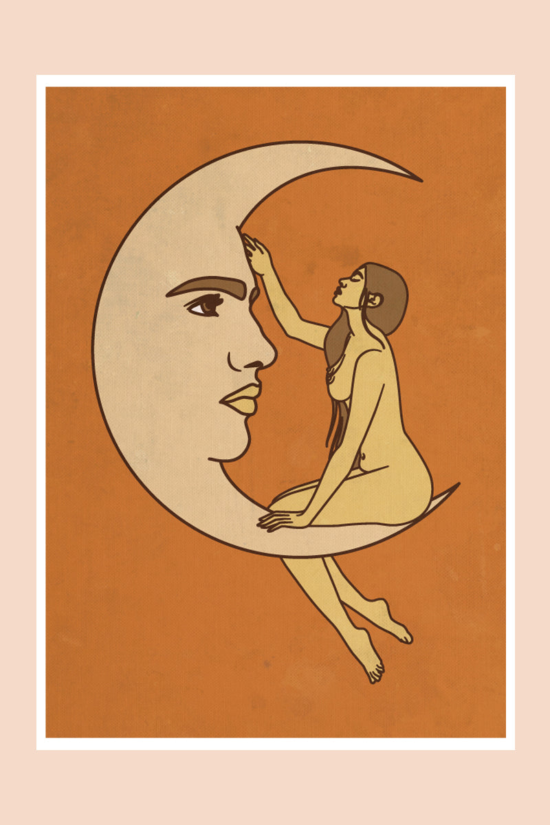 Moon Love in Sunset Print