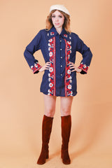 Vintage 1970's Dancing in the Moonlight Mini-Dress