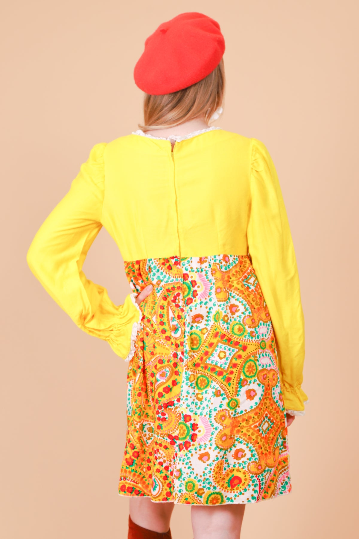 Vintage 1960's Follow The Sunshine Mini-Dress