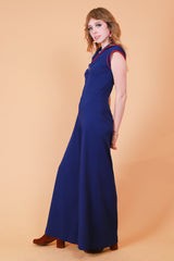 Vintage 1970's Afternoon Delight Navy Jumpsuit
