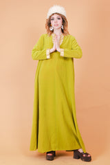 Vintage 1970's The Olive Commune Maxi-Dress