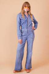 Vintage 1970's Go Your Own Way Denim Jumpsuit